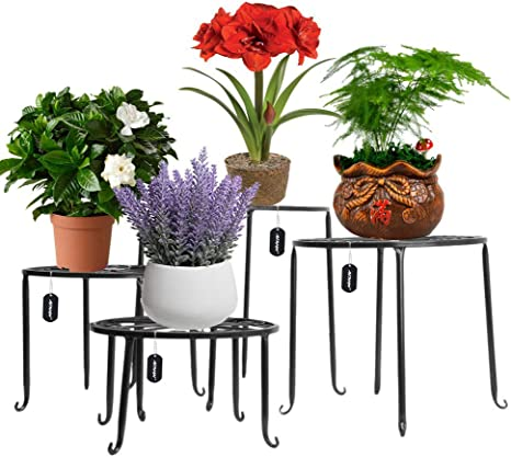 Mosaic Plant Stand Flower Side Table Decor Patio Garden Room Outdoor 4 Colours