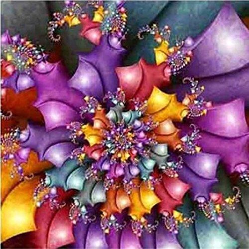 5D DIY Diamond Painting, Staron Full Drill Diamond Embroidery Rhinestone Painting Cross Stitch Kit Wall Art Decor 5D Diamond Painting by Number Kits Home Decor, Mandala (Flowers??)
