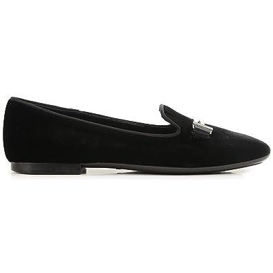 ee61b2e76 Tod's Velvet Slippers Nero Donna: Amazon.co.uk: Shoes & Bags