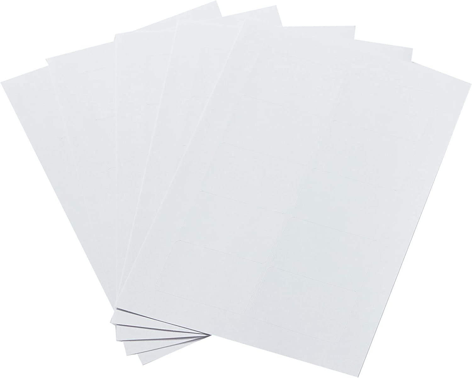 AmazonBasics Self-Adhesive Removable Labels, 1 x 1.5 Inches, White, 500-Pack