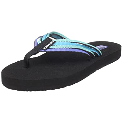 293847560610bf Teva Mush Adapto Women s Flip Flop Blue electric blue multi UK 4   Amazon.co.uk  Shoes   Bags