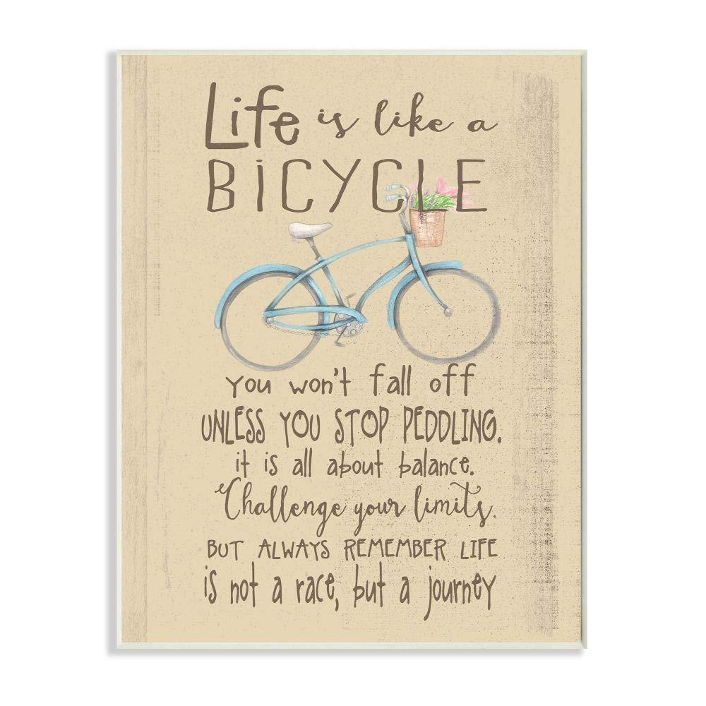 La habitación de los niños por Stupell la Vida es como una Bicicleta de Icono Inspirador de la tipografía Placa de Pared Arte: Amazon.es: Hogar