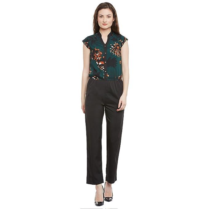 35483619c35 Ruhaan s Women s Crepe Green and Black Printed Jumpsuit (BS 7050 S ...