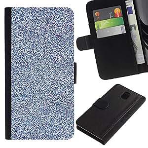 All Phone Most Case / Oferta Especial Cáscara Funda de cuero Monedero Cubierta de proteccion Caso / Wallet Case for Samsung Galaxy Note 3 III // Blue Purple Bright Snow Winter