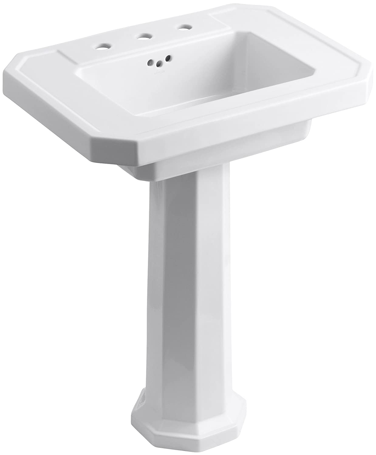 kohler k 2322 8 0 kathryn pedestal bathroom sink with 8 centers white pedestal sinks amazoncom