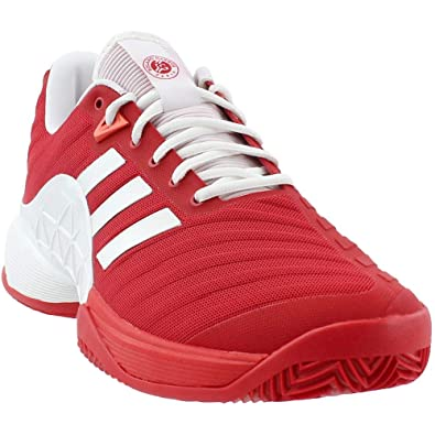 finest selection 41617 3d473 adidas Mens Barricade 2018 Clay Athletic  Sneakers Red