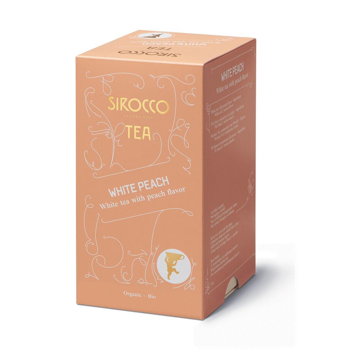 SIROCCO TEA Switzerland - WHITE PEACH - 3 x 20 tea bags (60 count)