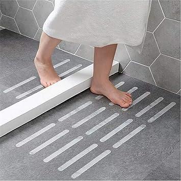 Yesiidor 5 Stücke Transparent Anti-Rutsch Boden Aufkleber Rutschfeste  Dusche Streifen Pad Bodenbelag Sicherheitsband Matte Bad Küche Treppen  Schritt ...