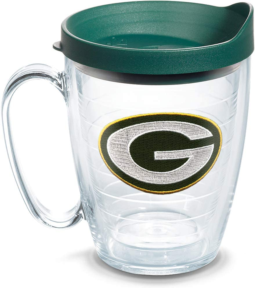 Tervis NFL Green Bay Packers Primary Logo Tumbler with Emblem and Hunter Green Lid 16oz Mug, Clear