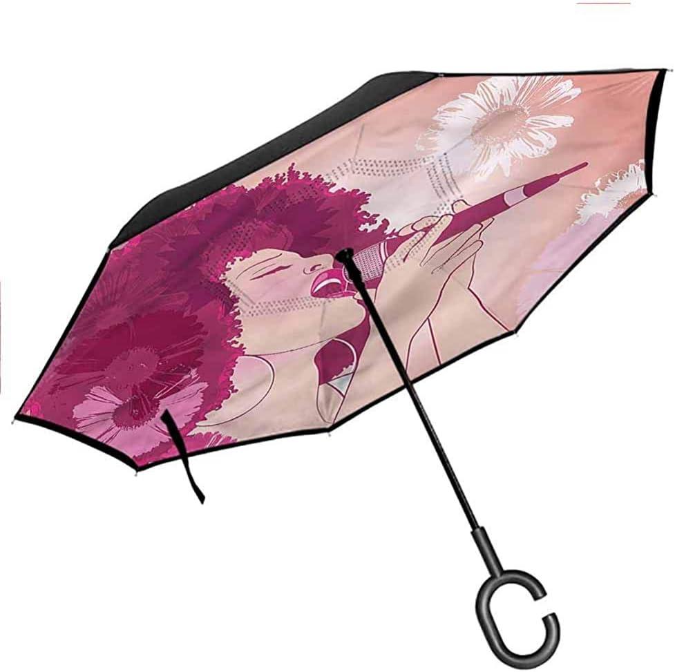 ETGeed Paraguas inverso de Setas Psilocybe Paraguas Reversible alucinógeno