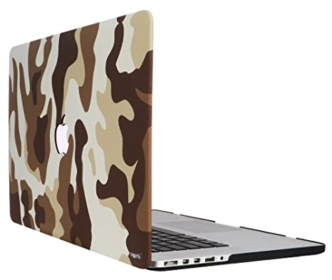 uk availability 47879 06f9d Heartly Military Camouflage Pattern Design Laptop Flip Thin Hard ...