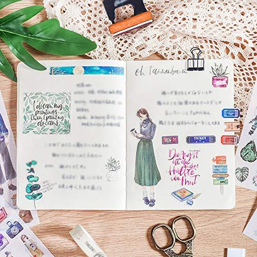 3X Washi Papel Pegatina Diario Pegatinas DIY Decoraci/ón Memo Scrapbooking Notebook Hacer Regalo Decoraci/ón para Tel/éfono M/óvil Etiqueta del /álbum 10 Hosaire Set 20cm Sello Vintage