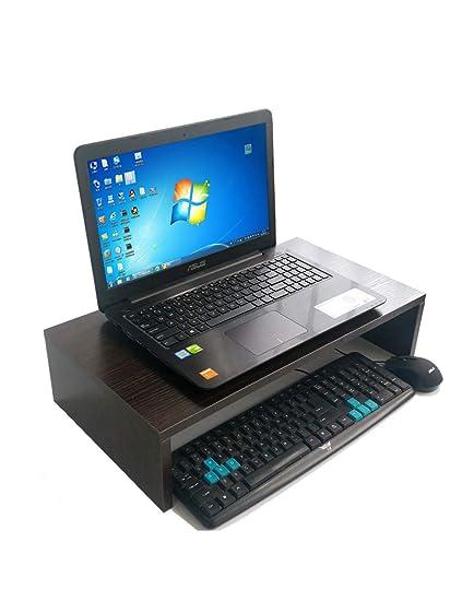 PIPIXIA Soportes de Monitor de Madera universales Altavoz TV PC Ordenador portátil Pantalla Vertical Ordenador de