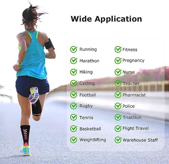 Running Deporte Correr Viajar Calcetines//Medias de Compresi/ón para Hombres y Mujeres Transpirables y Resistentes Volar RUNACC Calcetines de compresi/ón Varicosas Senderismo