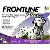 Frontline Plus Flea & Tick Control for Dogs 45-88lbs, 6 Month Supply