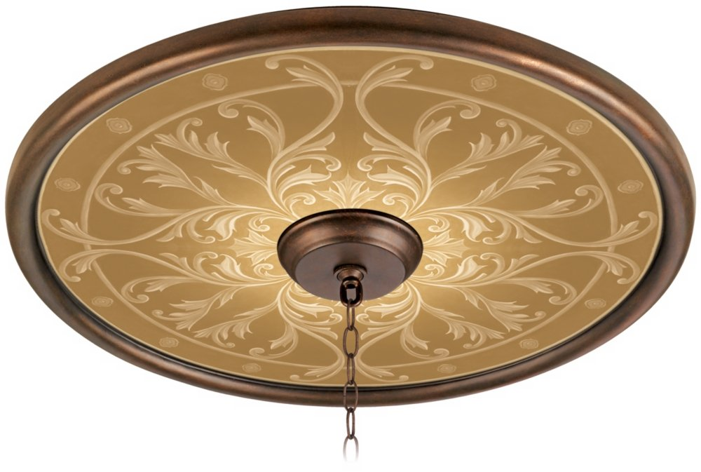Tracery Spice 24'' Wide Bronze Finish Ceiling Medallion