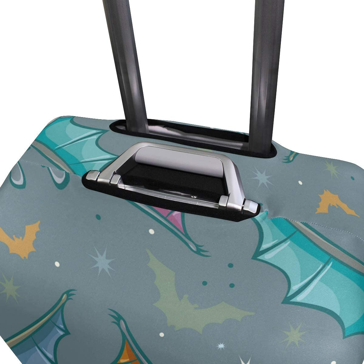 OREZI Luggage Protector,Cartoon Bats Elastic Travel Luggage Suitcase Cover,Washable and Durable Anti-Scratch Case Protective Cover for 18-32 Inches