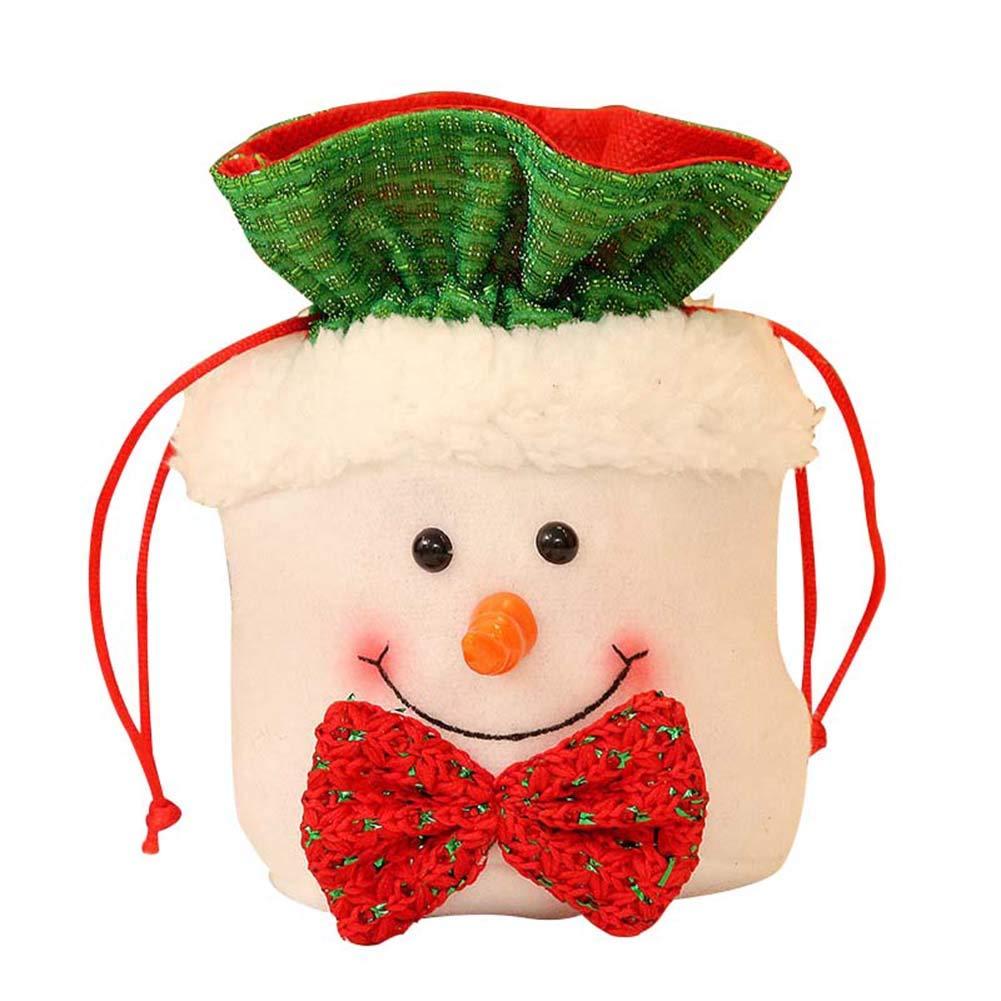 Amazon.de: ZREAL Nette Weihnachtsstoff-Beutel-Zugschnur-Süßigkeits ...