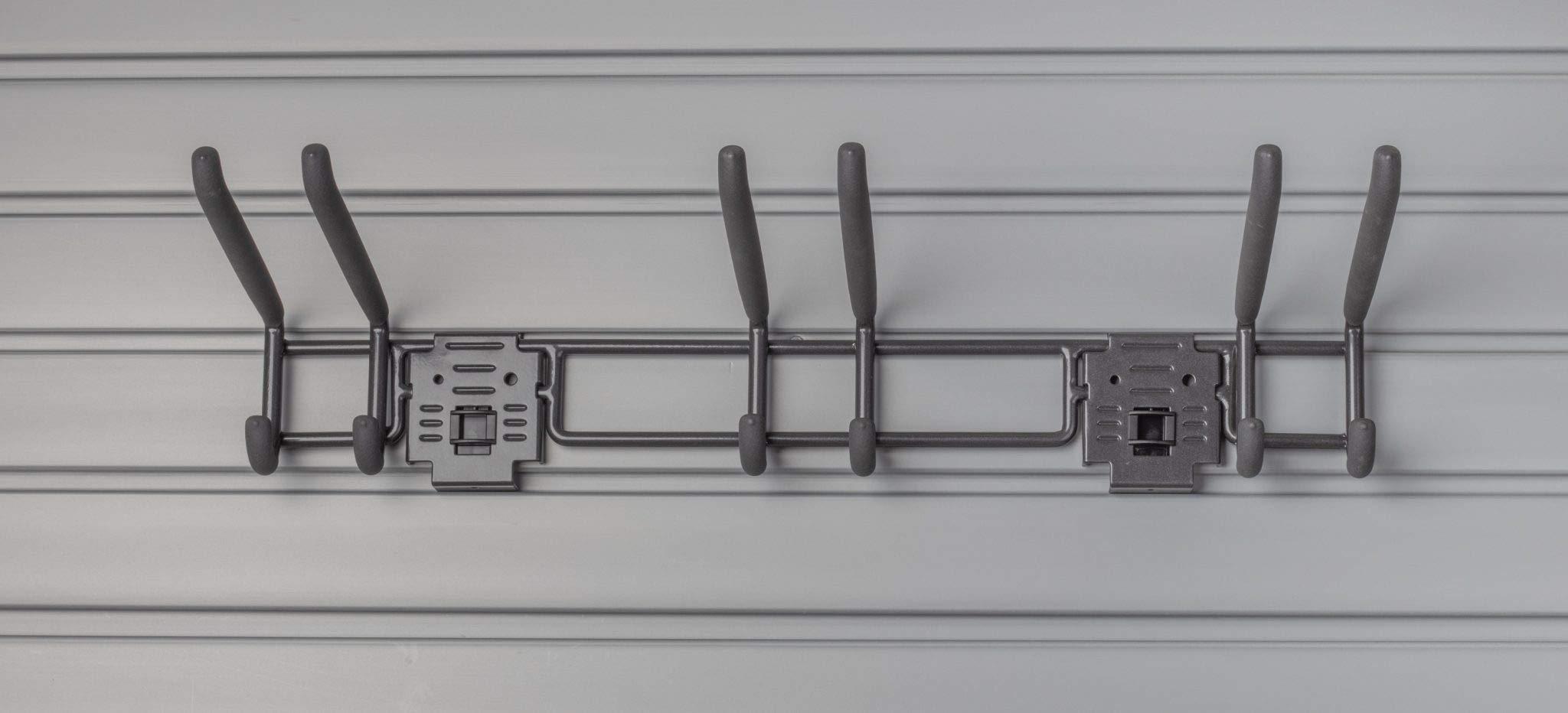 HandiWall 24'' Locking 3-Hook Double Hook Slatwall Tool Storage Bar with Hook Locks by HandiSolutions