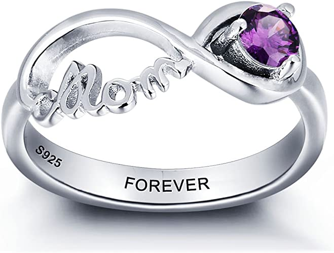 Custom Infinite Promise Ring Personalized Jewelry Design Your Own Mothers Rings