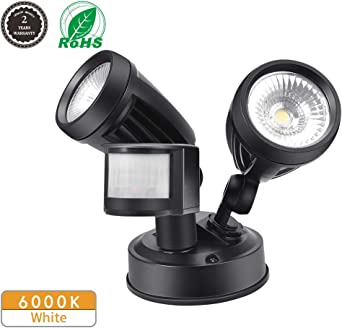 Foco LED con Sensor de Movimiento, Comaie 2 bombillas LED de ...
