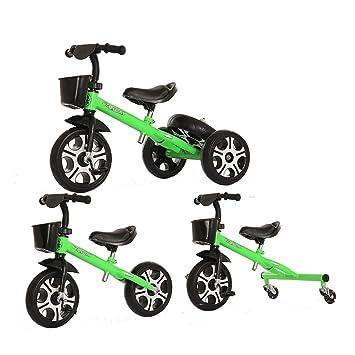 YMXLQQ Bicicleta de bebé triciclo de bicicleta para niños (mejora la rueda de Mickey) Bicicletas para niños (Color : Verde) : Amazon.es: Deportes y aire ...