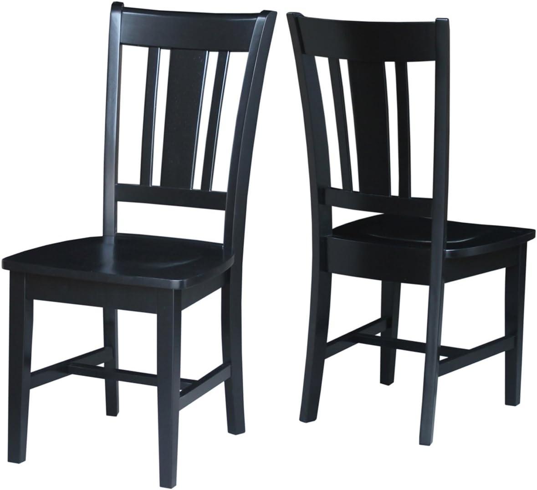 International Concepts San Remo Splat Back Chair, Black