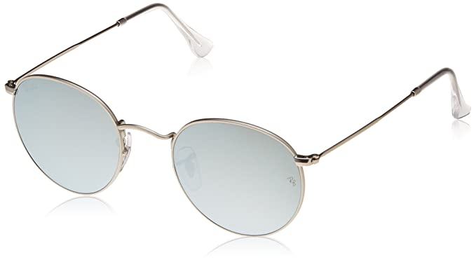 6c225b8558 Image Unavailable. Image not available for. Colour  Ray-Ban Round  Sunglasses (Matte Silver) (RB3447