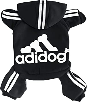 Clothes,Fleece Jumpsuit Warm Sweater,4 Legs Cotton Jacket Sweat shirt Coat for Small Dog Medium Dog Large Dog Rdc Pet Adidog Dog Hoodies White,M