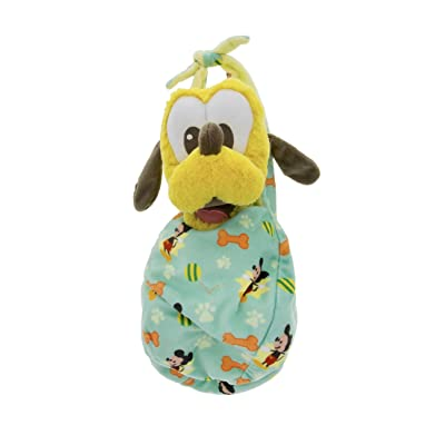 Disney Parks Baby Pluto Dog in a Pouch Blanket Plush Doll: Toys & Games