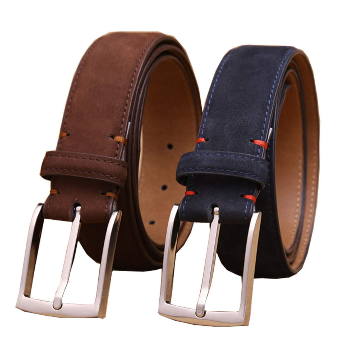 luxury mens first layer cowhide nubuck leather belt for dress//business