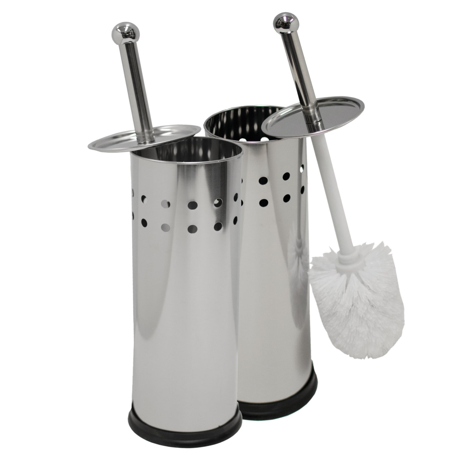 TB029915 Stainless Steel Circle Punch Oasis Collection Toilet Brush /& Holder