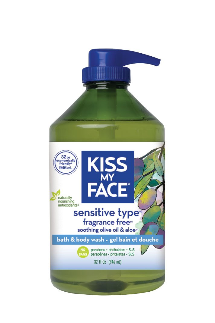 Kiss My Face Fragrance Free Moisturizing Shower Gel, Bath and Body Wash, Value Size 32 oz