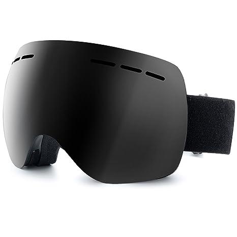 c29b0bb3aa IOO Ski Goggles Over Glasses for Men Women Youth Frameless Anti-Fog Clear  UV 400