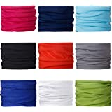 Landisun Headband 9PCS and 6PCS Multifunctional Face Mask Seamless Magic Scarf