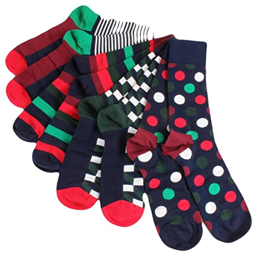Happy Socks Mens and Womens Multi Patterned Socks in Gift Box Pack of 4 at Amazon Mens Clothing store: