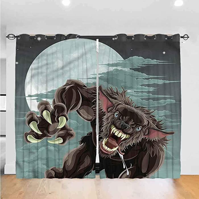 Top 10 Wolf And Raven Nature Bedroom Curtains