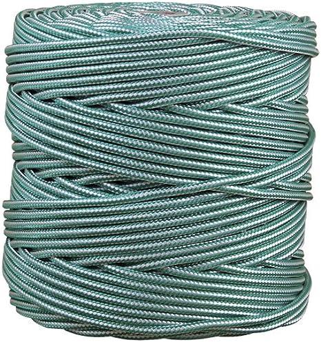 Cofan 08101013 Bobina de cordón trenzado con polipropileno, Blanco y verde, 5 mm x 200 m