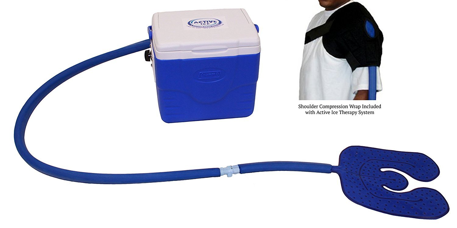 Active Ice Universal System 2.0 with 9 Quart Cooler (Shoulder Compression Wrap) by Polar Products Inc.