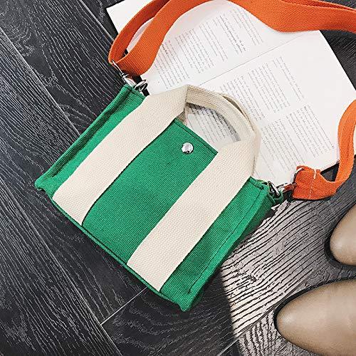Toile Sac Vert Wild nbsp;Tide Portable personnalité WSLMHH Bag Girl Messenger Pocket qwP4OEExn