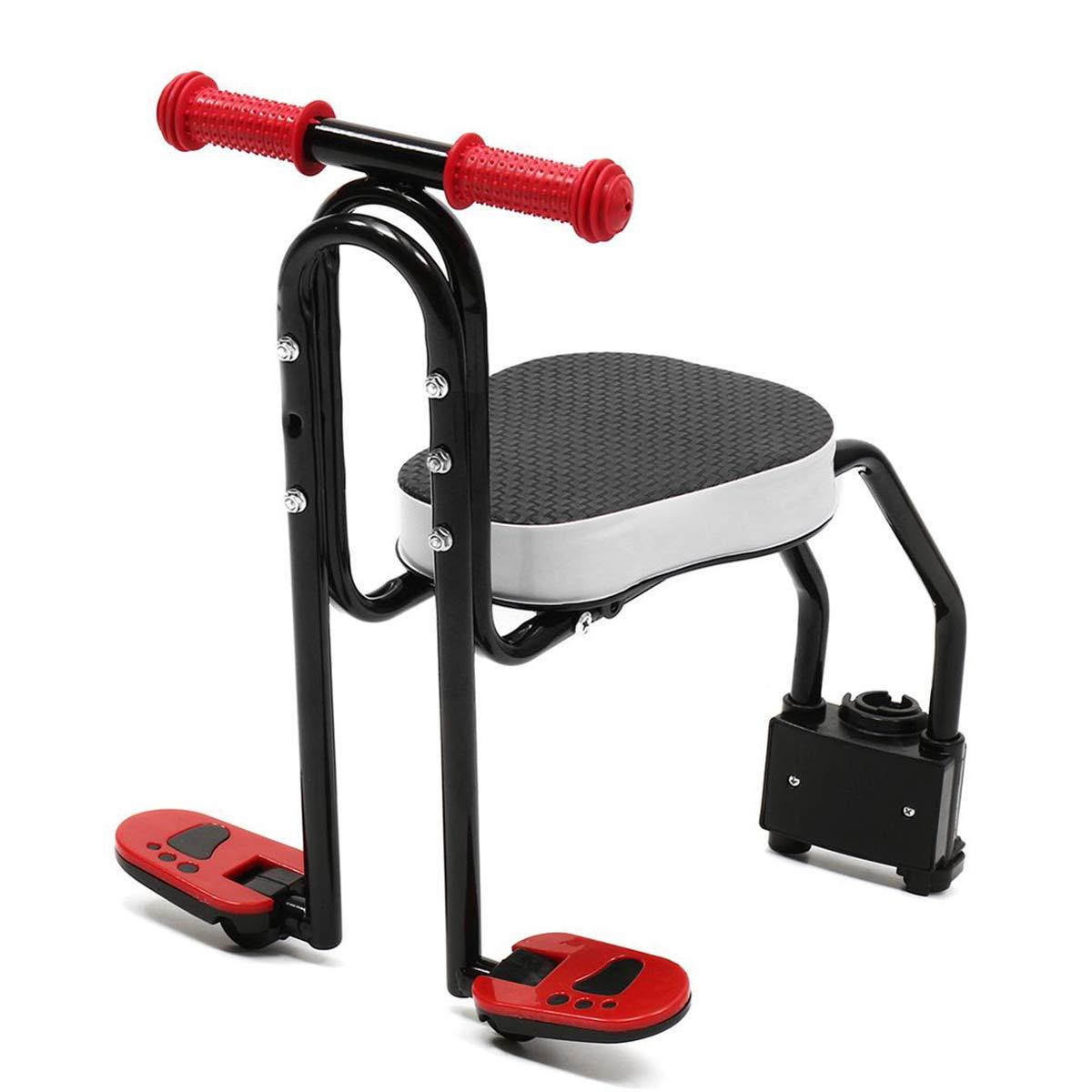 COEWSKE Asiento de Bicicleta para Ni/ños Asiento Delantero de la Sill/ín Asiento de Bicicleta Plegable con Reposabrazos y Pedal para Ni/ños de 3 a 6 A/ños de Edad