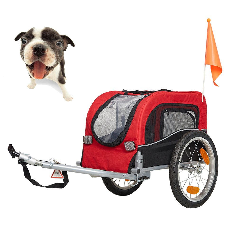 Lucky Tree Pet Dog Bike Trailer Bicycle Trailer Carrier Cycling w/Suspension by Lucky Tree