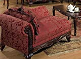 Serta Upholstery 7650FRCHS 7650FRCHS03 Traditional Style Chaise in Momentum, Magenta
