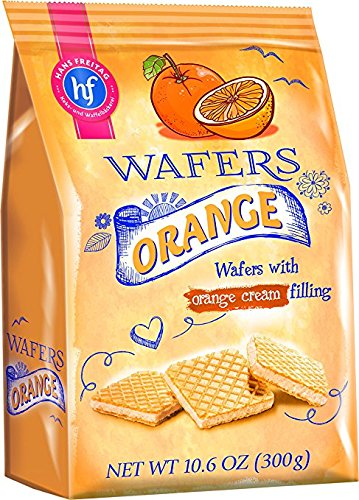 Hans Freitag Wafers with Orange Cream Filling 300g (Orange Cream Filling)