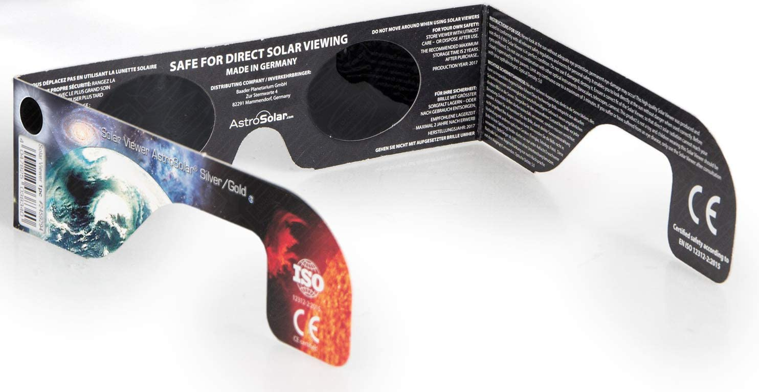 Baader Planetarium Sonnensichtbrille mit Baader AstroSolar Silver Folie Farbe nicht frei w/ählbar
