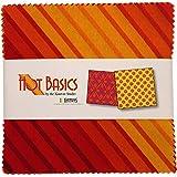 Kanvas Studio Hot Basics 5X5 Pack 42 5-inch Squares Charm Pack Benartex