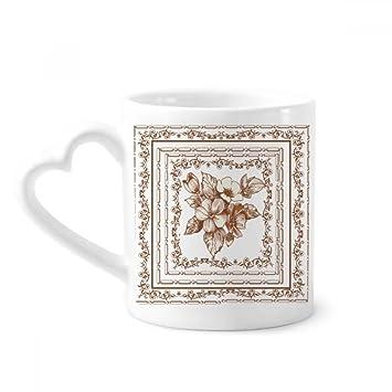 Diythinker Barock Kunst Blumen Rahmen Modern Muster Kaffeetasse