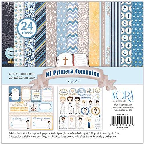 Pack di 24 carta - Mi Primera Comunione - Bambino, 8 'X8' 8 X8 KORA projects