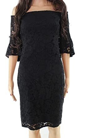23ea29dd795e Image Unavailable. Image not available for. Color  Laundry by Shelli Segal  Womens Sheath Lace Dress Black 8