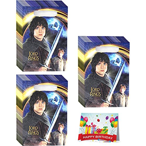 The Lord Of The Rings Birthday Party Favor Treat Bags Bundle Pack of (Lord Of The Rings Party Supplies)
